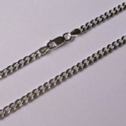 "18"" 46cm 3.5mm thick Sterling Silver curb Chain 10.7g"